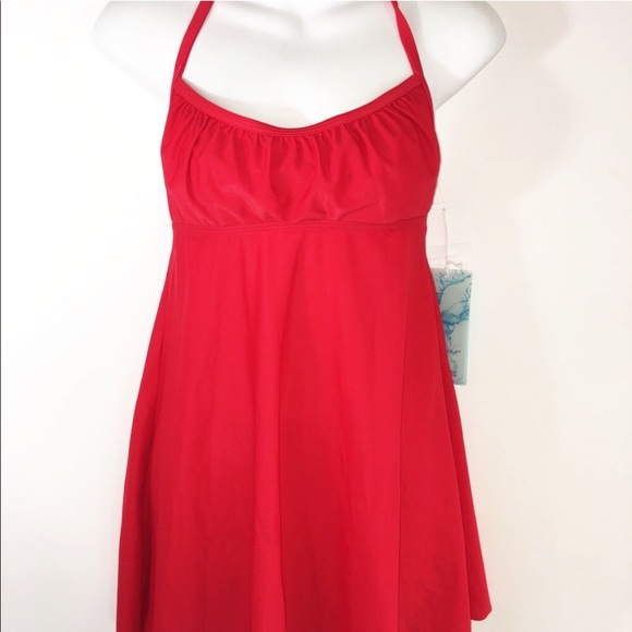 Aqua Green Other - TANKINI COVER UP XS-S red skirted NEW